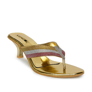 Vendoz Girls Golden Heels ]WD1705GL