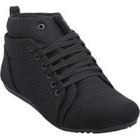 Hansx Girls Black Lace-up Casual Shoes GS-HANSX-1221BLACK