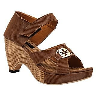 Brown Glamourred Heelded Sandals (T56BROWN) ]T56_BROWN