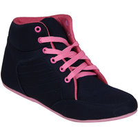 Hansx Pu Pink Rubber Casual Shoes