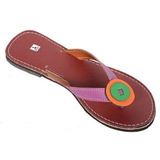 Santosh Art Collection Footwear SAC3342 Exclusive purple strip beautiful slipper ]