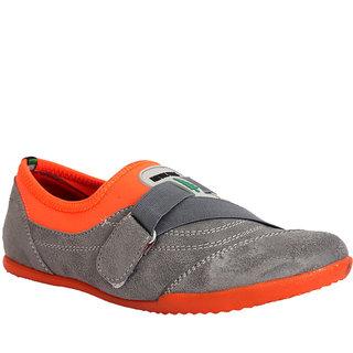 Trilokani Classy Casual Shoe ]T89_GREYORANGE