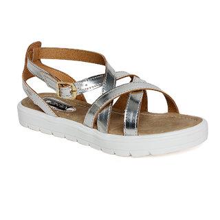 Vendoz Women's Silver Sandals