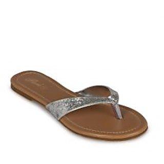 Flora Casual Wear Silver Flat Slipper ]PJ-2141-21-Silver