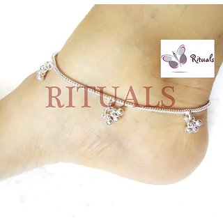 German Silver  Anklets  - Guarantee Of Polish