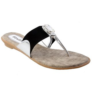 Faith Girls'S Black Sandals ]faith_flats_black_108_03