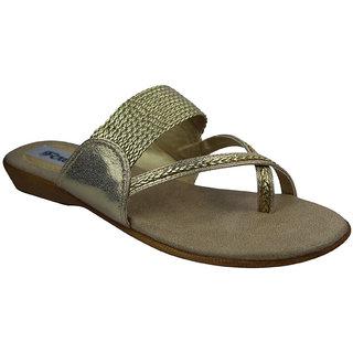 Faith Girls'S Gold Sandals ]faith_flats_gold_3018_02