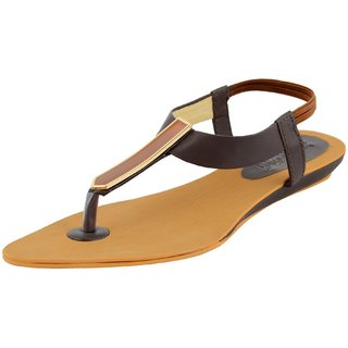Footgear Brown Color Girls Sandals L-SA-C-3-Brown