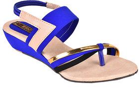 Trilokani Girls Blue Open Sandals ]T137_BLUE