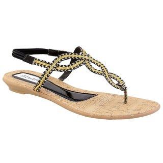 Faith Girls'S Black Sandals ]faith_flats_black_226_02