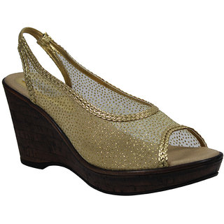 Faith Girls'S Gold Sandals ]faith_wedges_gold_3002_02