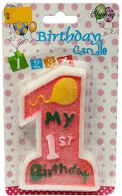 Birthday Candle  Year 1  (Multicolor, Pack of 1)