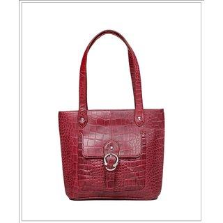 Kara Novak Croco Bordo Hand Bag