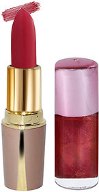 Laperla Combo Pack Hot Red Lipstick  Adbeni Maroon Nail Polish
