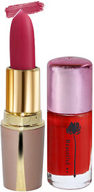 Laperla Combo Pack Hot Pink Lipstick Adbeni Red Nail Polish