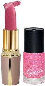 Laperla Combo Pack Baby Pink Lipstick  Nail Polish
