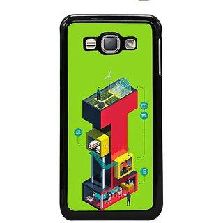 Fuson Designer Phone Back Case Cover Samsung Galaxy J1- 2016( Working On Letter I )
