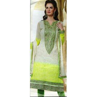 Sujatha Design Light Green Georgette Dress - 3XL