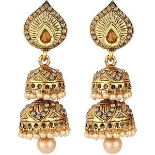 Styylo Fashion Golden Jhumki