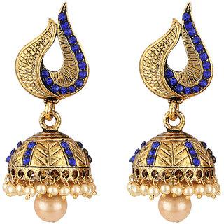 Styylo Fashion Golden Blue Jhumki