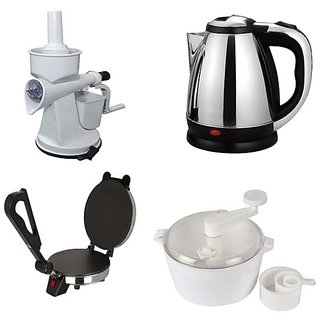 Combo Of Swastik Hand Juicer 1.8 Ltr Kettle Roti Maker And Dough