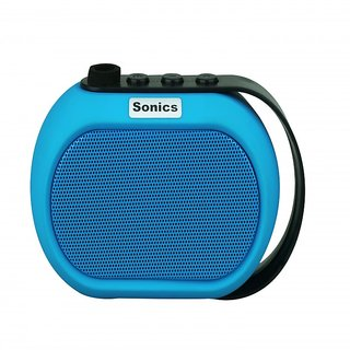 Sonics IN-BT504 Portable Bluetooth Mobile/Tablet Speaker (Blue single unit Channel)
