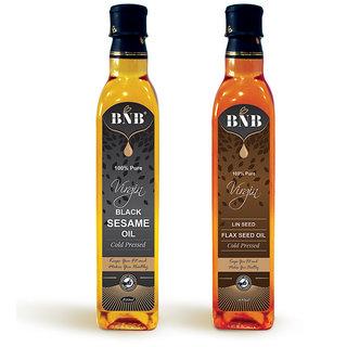 BNB Combo of Virgin Black Sesame and Lin Seed Oil