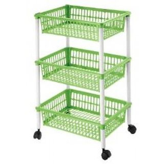 Skycandle 3 layer Plastic Kitchen Trolley