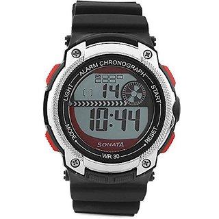 Sonata Quartz Grey Dial Mens Watch-77005pp03