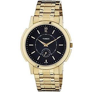 Timex Quartz Black Dial Mens Watch-TW000U304