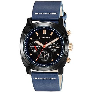 Giordano Quartz Black Dial Mens Watch-1751-05