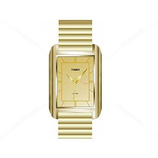 Timex Quartz Gold Dial Mens Watch-PR84