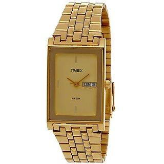 Timex Quartz Gold Dial Mens Watch-G311