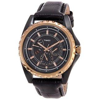 Timex Quartz Black Dial Mens Watch-T2N113