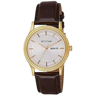 Sonata Quartz Gold Round Men Watch 1650YL01