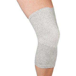 Mediexchange Knee Cap Bamboo Support Small Knee Support (S, Grey)