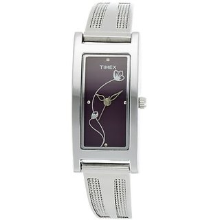 Timex Quartz Purple Dial Women Watch-J600
