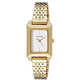Sonata Quartz Silver Dial Women Watch-8067YM01