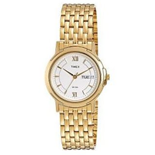 Timex Quartz White Dial Mens Watch-TW00G571H