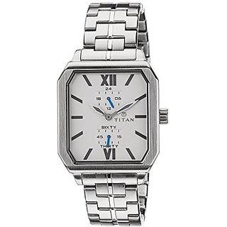 Titan Quartz White Dial Mens Watch-1643SM01
