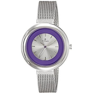 Titan Analog Purple Round Watch -2482SM01