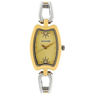 Beige Dial Analog Watch