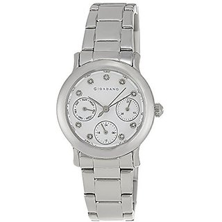 Giordano Quartz White Dial Women Watch-A2007-11