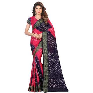 Beautiful Bandhani cotton silk saree (SVB Sarees)