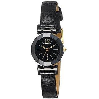 Sonata Analog Black Round Watch -8943KL01