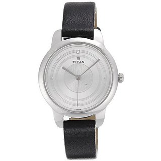 Titan Quartz Silver Round Women Watch 2481SL02