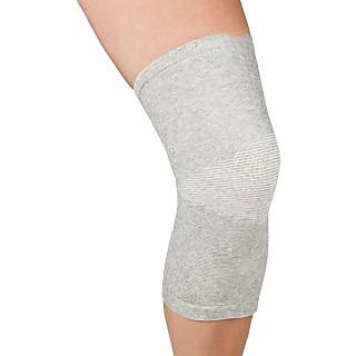 Mediexchange Knee Cap Bamboo Support Large Knee Support (L, Grey)