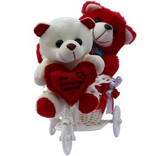 Buy Two Cute Teddy With A Tricycle Gift Set Valentine Gift Online