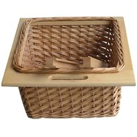 Amour Wicker modulart kitchen basket with channels