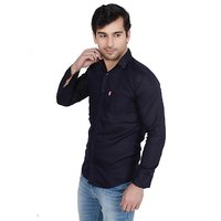 Knight Riders Navy Comfort Fit Casual Shirt for Men